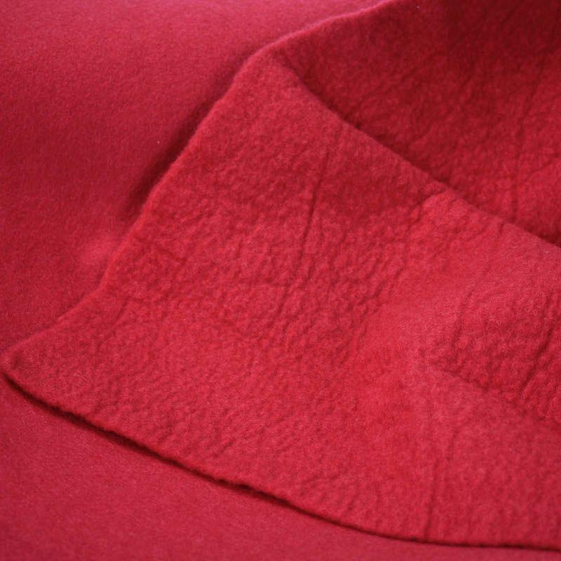 Sample of boiled wool felt with standard flat felt
