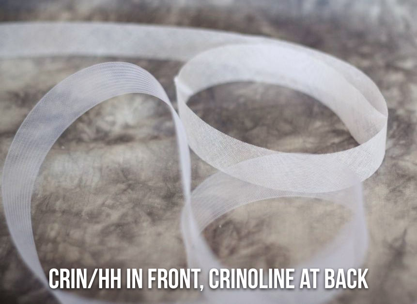 Crin/HH in front, Crinoline at back