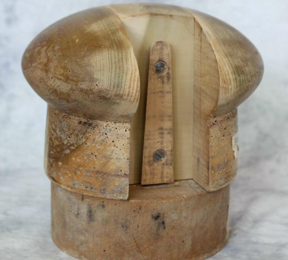 Vintage hat block in need of repair
