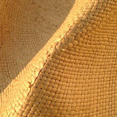Damaged straw hat