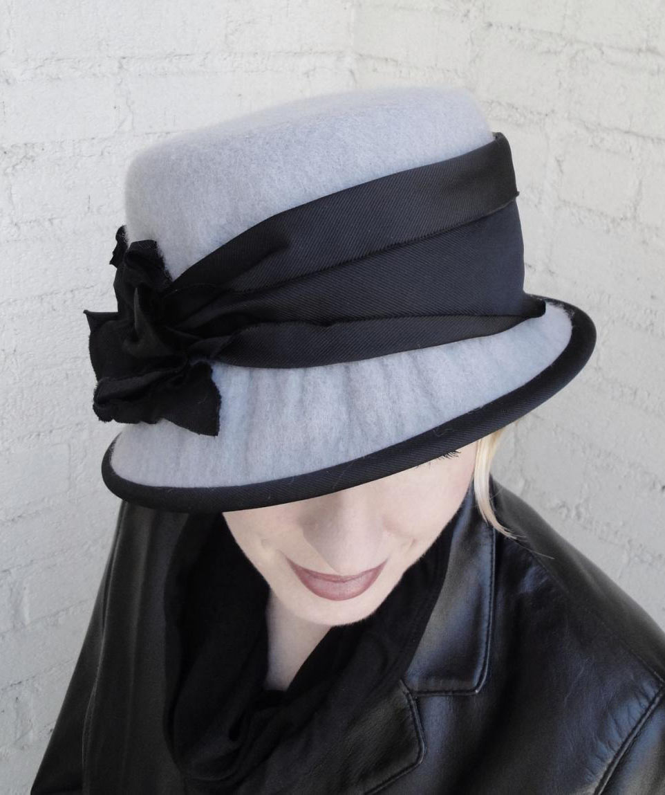 Lee St. Mare wearing a Blocked Cloche