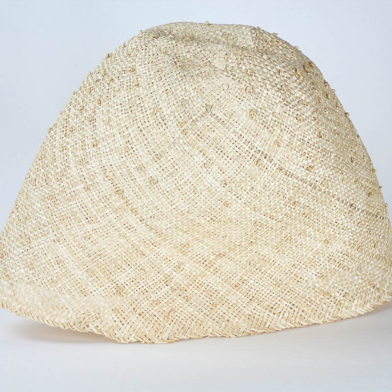 Natural Knotted Sisal - Knobby coarsely woven sisol straw in 11/12 inch depth.