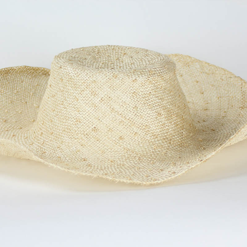 Natural Knotted Sisal - Knobby coarsely woven sisol straw in 17/18 inch diameter.