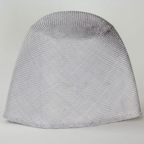Silver Grey Grade One Parasisal hood. Finely woven straw