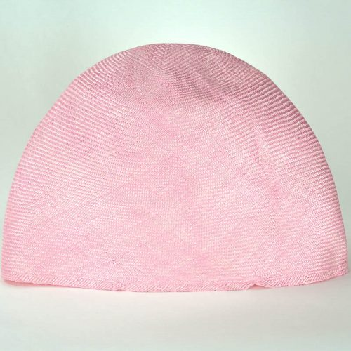 Light Pink Grade One Parasisal hood. Finely woven straw with sheen