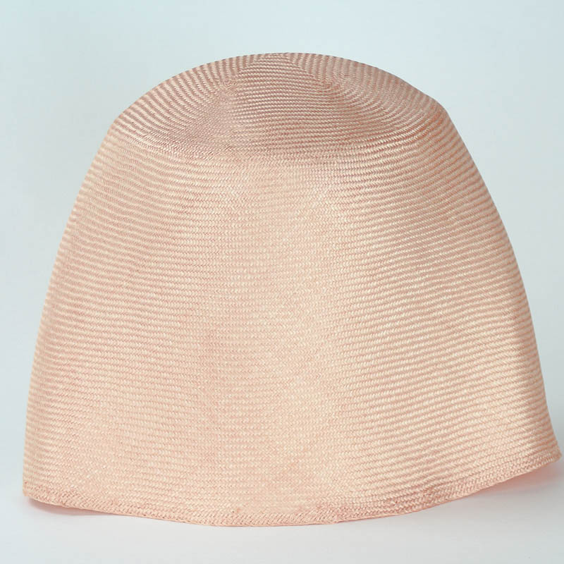 Light Peach Grade One Parasisal hood. Finely woven straw with sheen