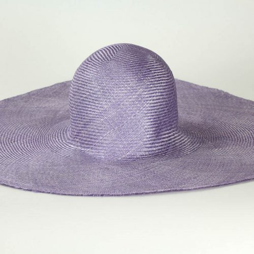 "Lilac Grade One Parasisal 6"" body. Finely woven straw with sheen"
