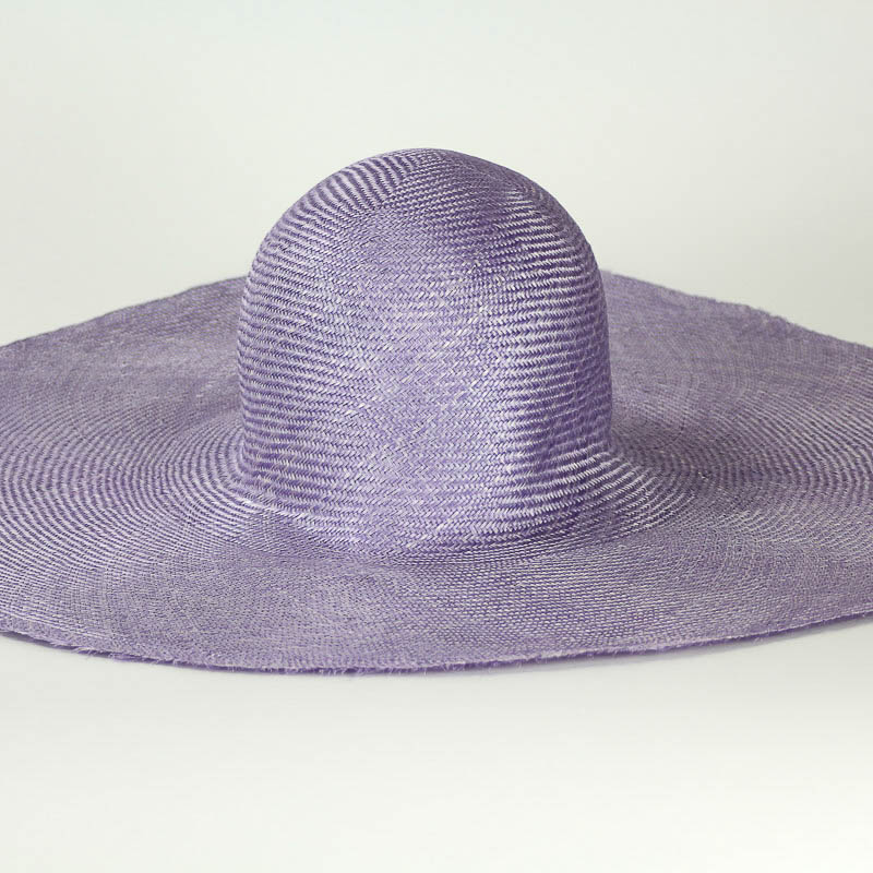 """Lilac Grade One Parasisal 6"""" body. Finely woven straw with sheen"""