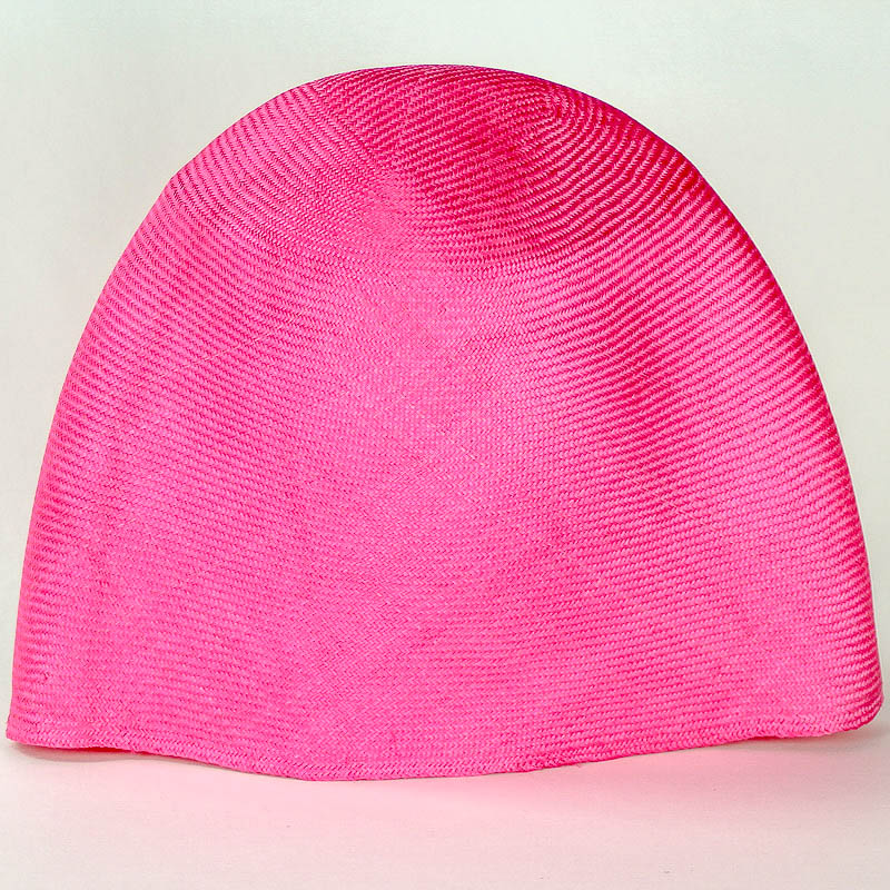 Hot Pink Grade One Parasisal hood. Finely woven straw with sheen