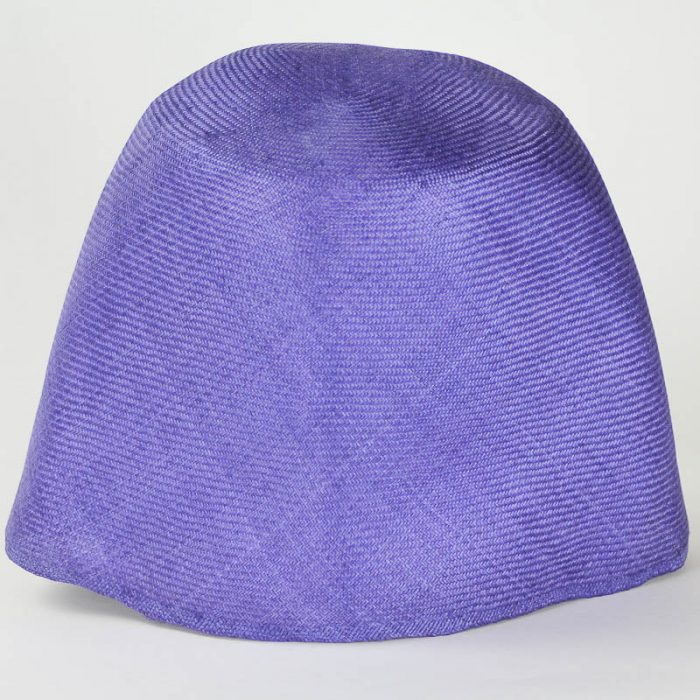 Purple Grade One Parasisal hood. Finely woven straw with sheen