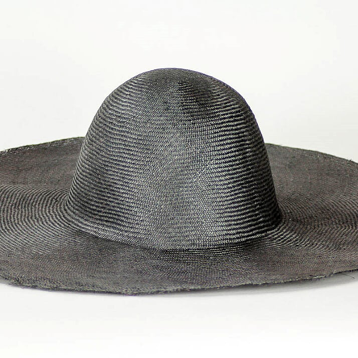 """Steel Grey Grade One Parasisal 6"""" body. Finely woven straw with sheen"""