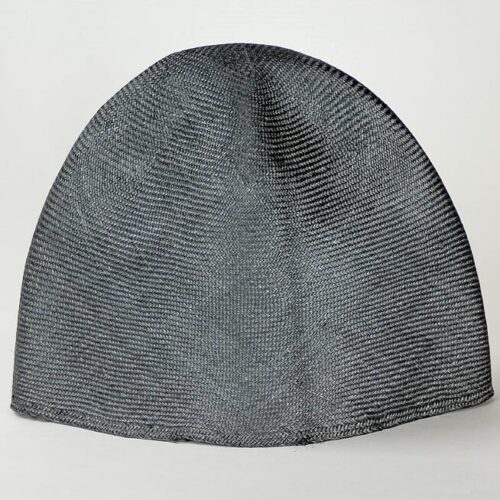 Steel Grey Grade One Parasisal hood. Finely woven straw with sheen