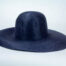 A lovely navy capeline in salome.