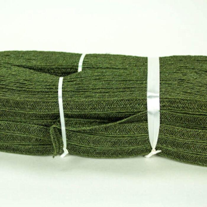 Forest Green Abaca and Hemp blend Braiding, 11-12 mm width in 144 yard hank.