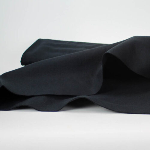 Black, a blend of wool and rayon (70% wool - 30% rayon)