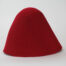 100% wool felt hood, 3 1/2 ounce weight (100 grams), made in China.