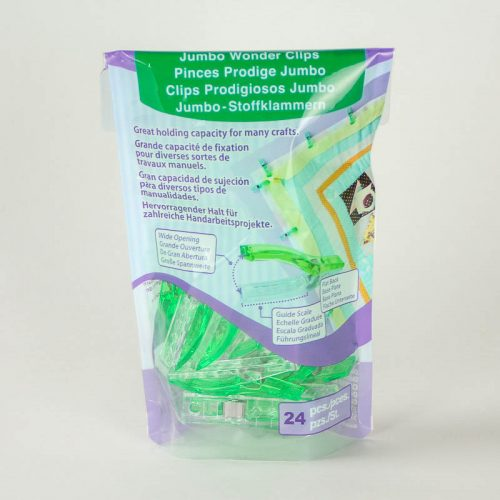 Stronger than a clothespin, , these large 2-inch clips keep fabric straw or felt in place without leaving pin holes.