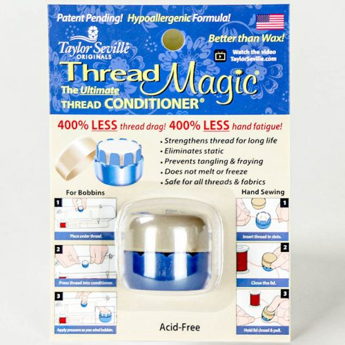 A synthetic thread wax to use with hand sewing.