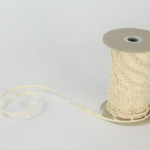 Cream colored Hat Elastic Looping