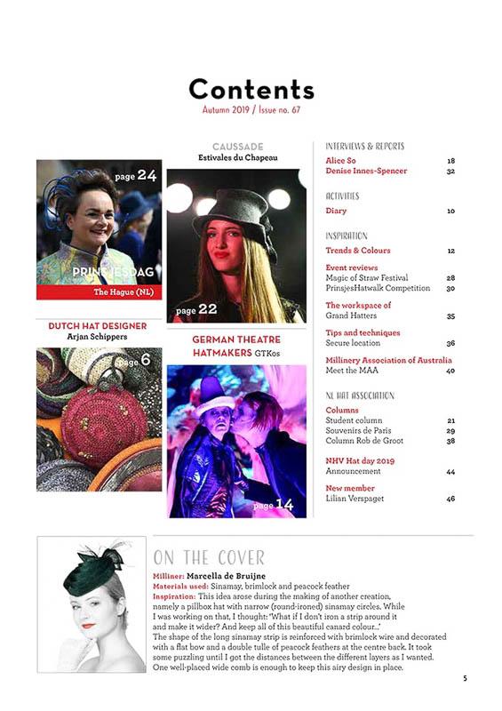 Hatlines Magazine 2019 Autumn Issue 67 Index
