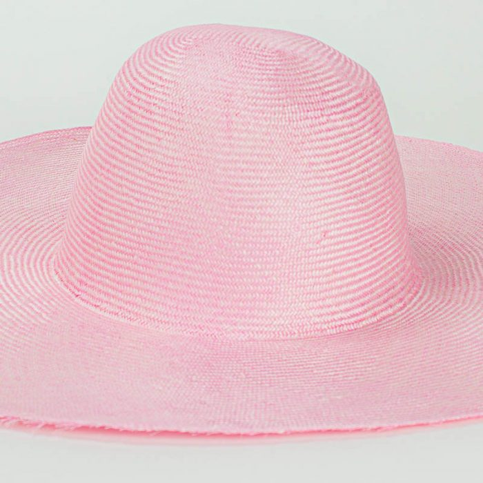Light Pink Grade One body. Finely woven straw with sheen,