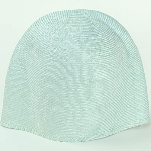 Sky Blue Grade One Parasisal hood. Finely woven straw with sheen