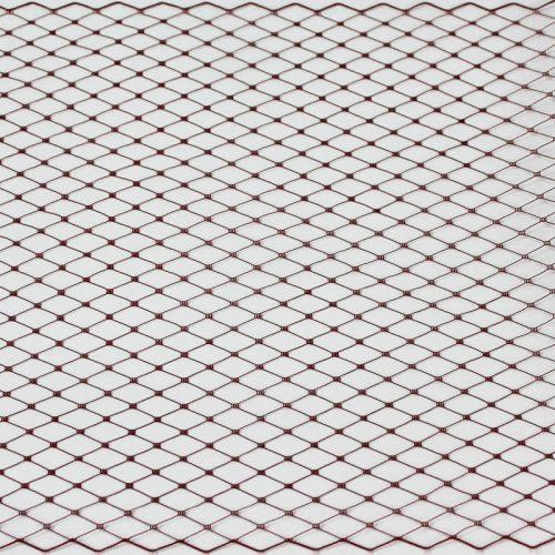 Plum Standard diamond pattern with 1/4 inch opening, 8-9 inch width, 100% nylon.