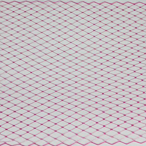 Hot Pink Standard diamond pattern with 1/4 inch opening, 8-9 inch width, 100% nylon.