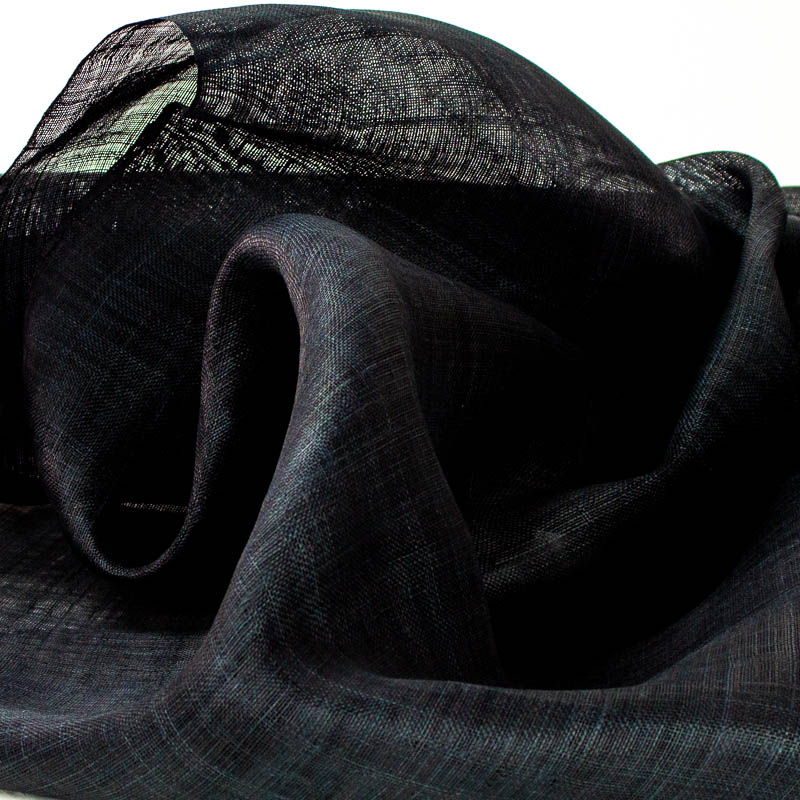 Black Pinokpok is in the sinamay family with lots more body and wonderful draping qualities.