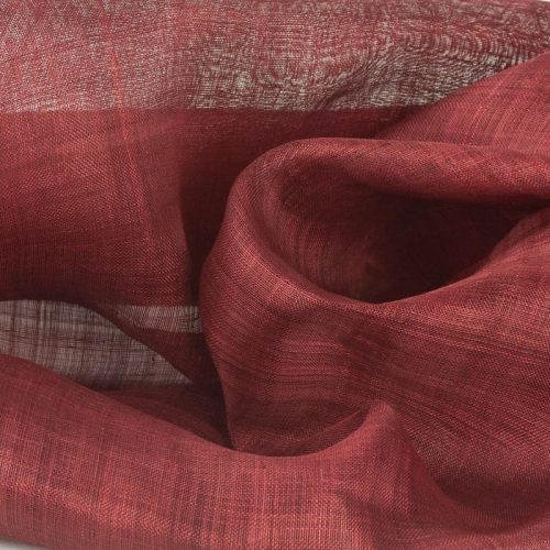 Deep Garnet Red Pinokpok sinamay cloth