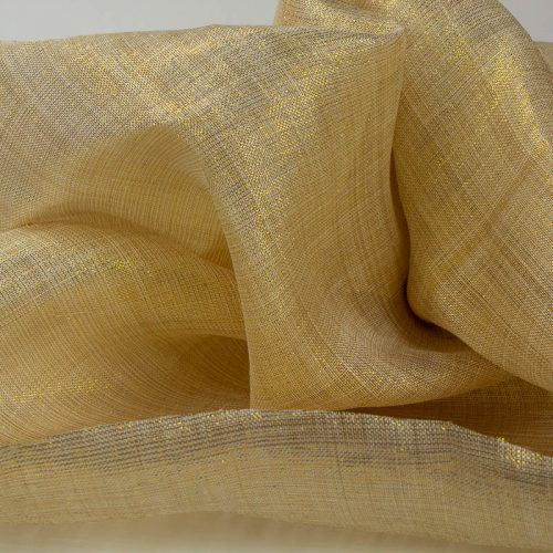 Natural and Gold Metallic Pinokpok cloth