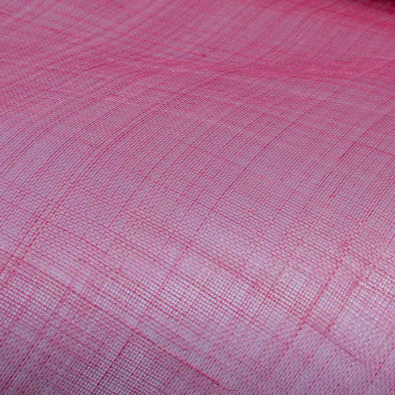 Lightly sized Gauzy look straw cloth, coral pink
