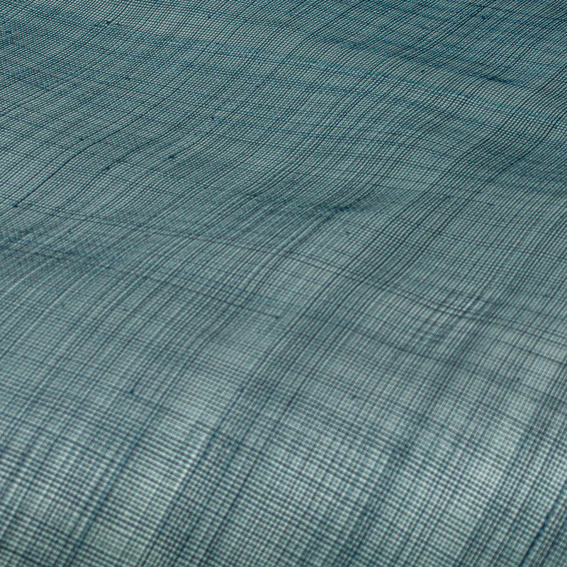 Lightly sized Gauzy look straw cloth, in teal shade