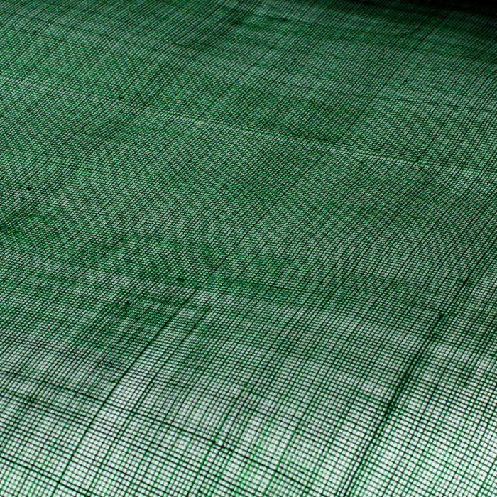 Lightly sized Gauzy look straw cloth, in deep emerald green
