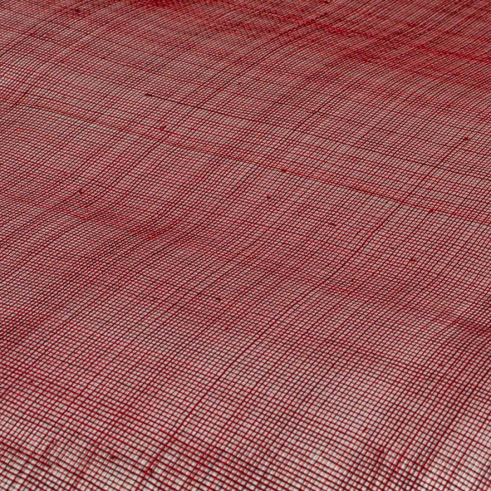 Lightly sized Gauzy look straw cloth, in scarlet red
