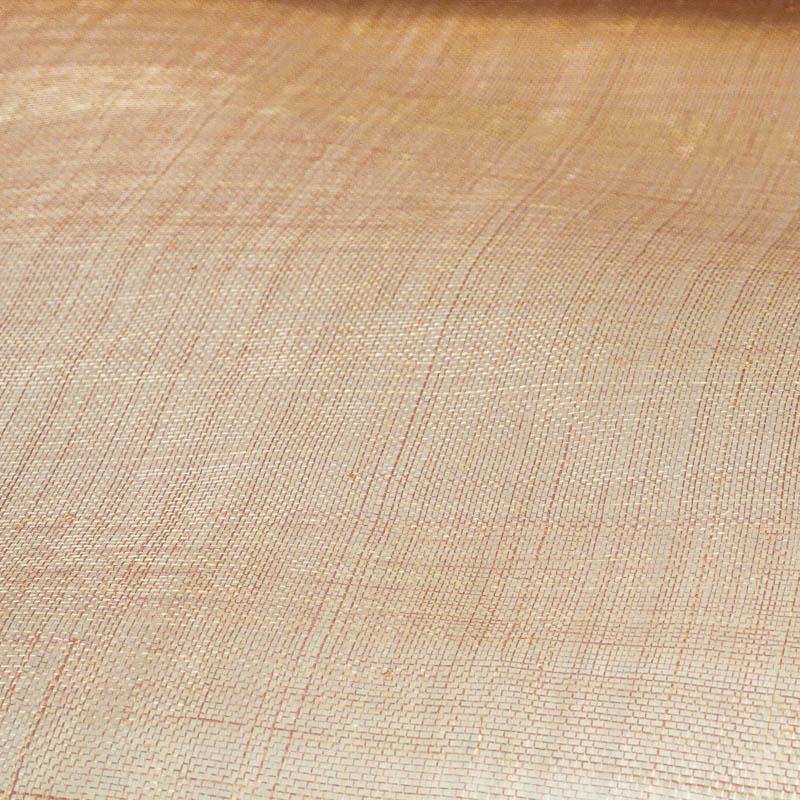 Lightly sized Gauzy look straw cloth in soft peach.