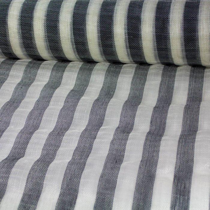 Black and White stripe sinamay