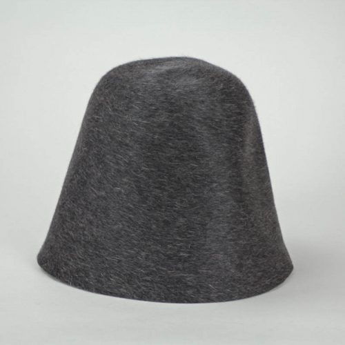 Very dark charcoal with heather finish hood, or cone, shape.
