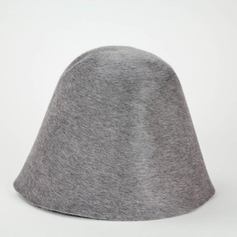 A pretty grey with heather finish hood, or cone, shape.