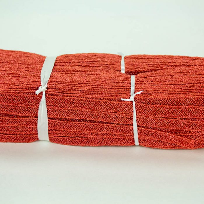 Brick Red Abaca and Hemp blend Braiding