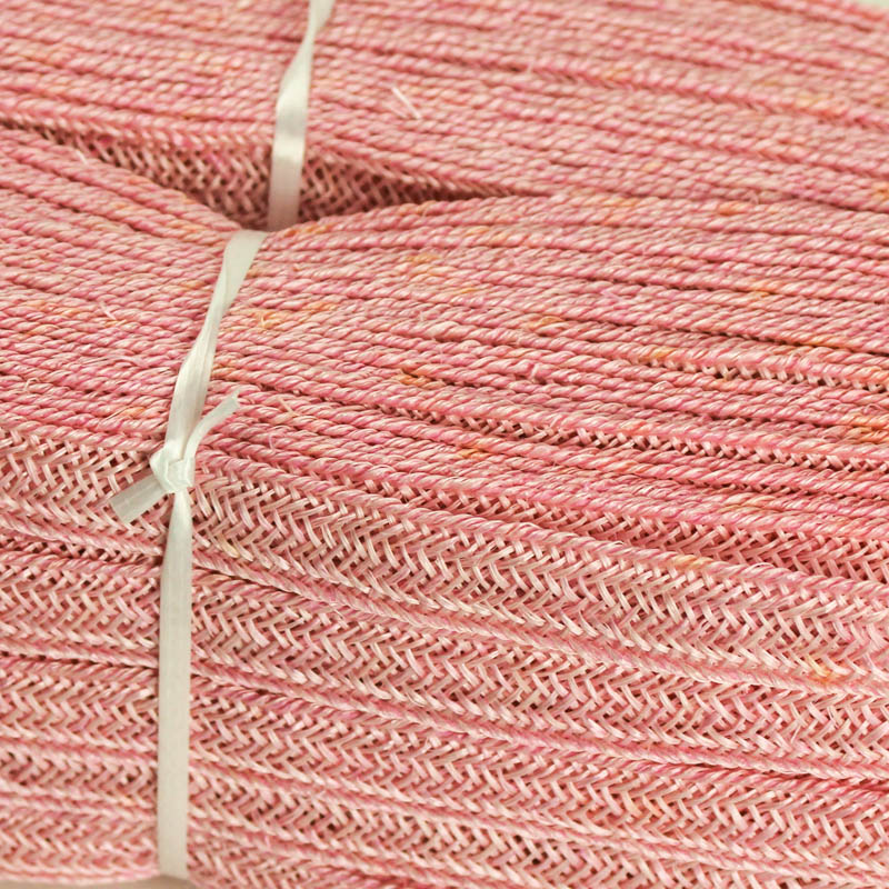 Pale Pink Abaca and Hemp blend Braiding