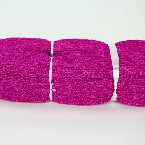 Fuchsia Abaca and Hemp blend Braiding