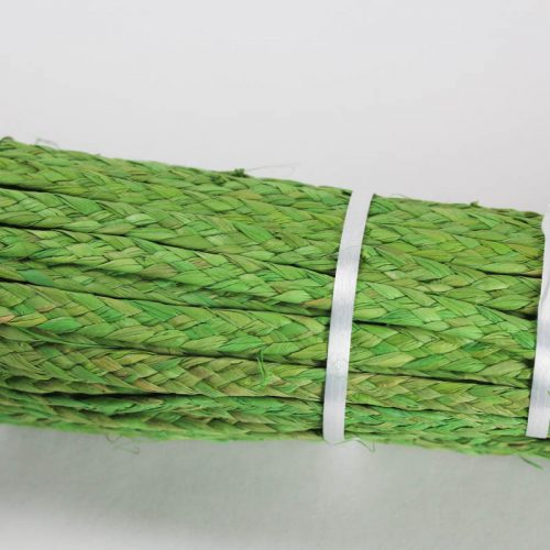 Kiwi Green raffia straw braid