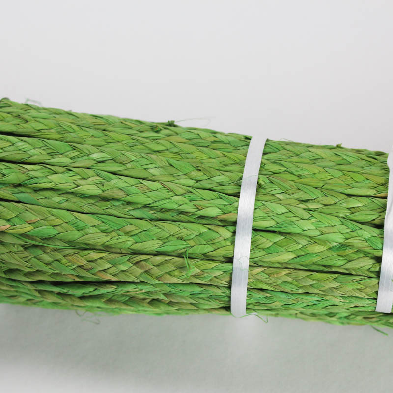 Kiwi Green raffia straw braid