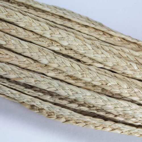 Natural, undyed, raffia straw braid