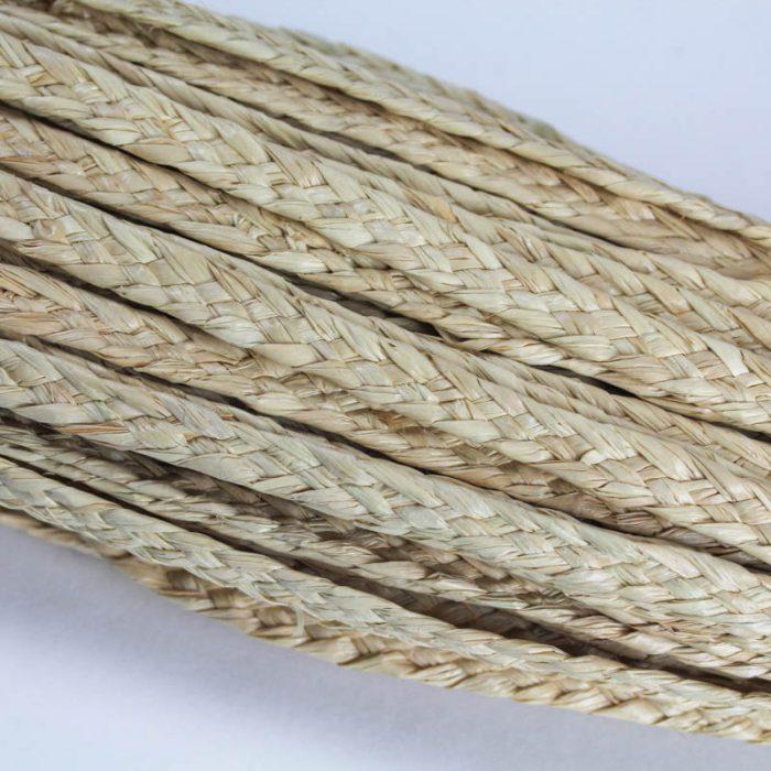 Natural, undyed, raffia straw braid