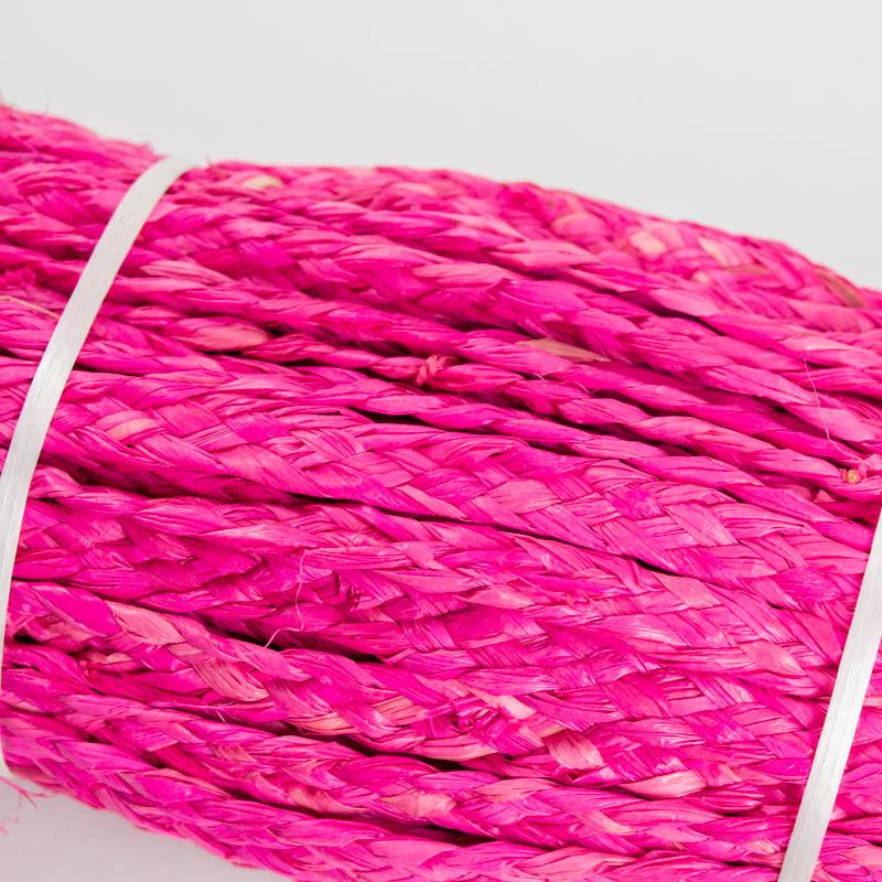 Hot Pink raffia straw braid