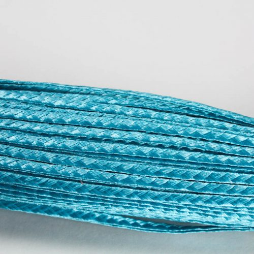 Turquoise Standard weave pattern.