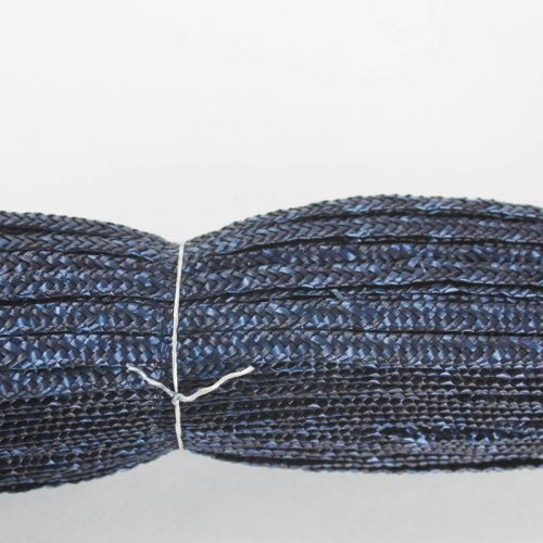 Navy Milan straw braid in standard Milan weave