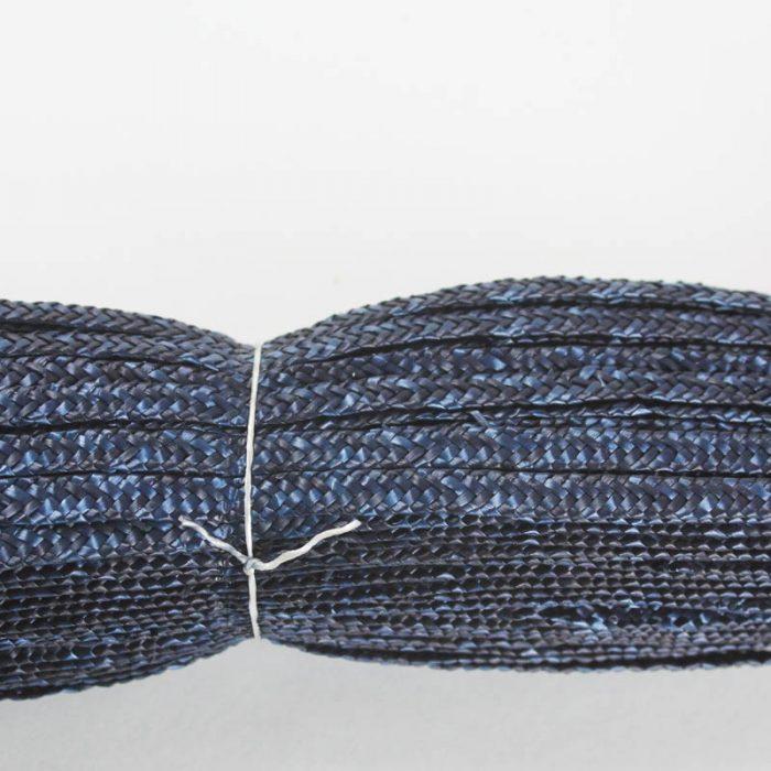 Navy Milan straw braid in standard Milan weave